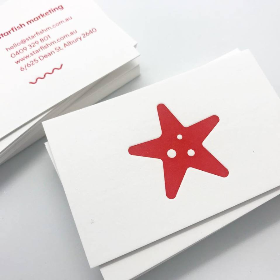 starfish marketing business cards