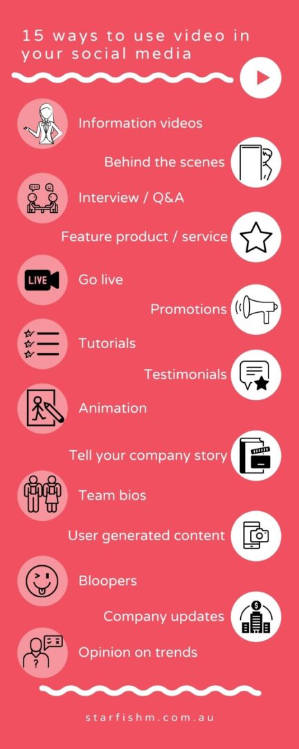 15 ways to use video in social media infographic